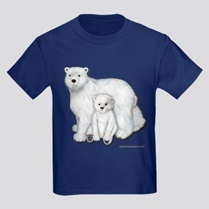 Polar Bears Kids Dark T-Shirt