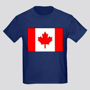 Canadian Flag 4 Kids Dark T-Shirt