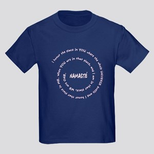 Namaste and its Meaning Kids Dark T-Shirt