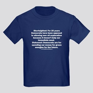 Democrats Shortsighted Dishonest Kids Dark T-Shirt