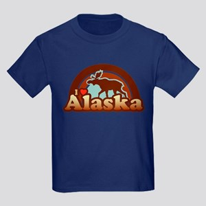 I Heart Alaska Kids Dark T-Shirt