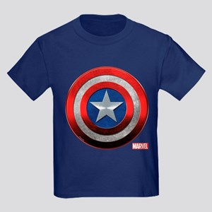 Captain America Grunge Kids Dark T-Shirt