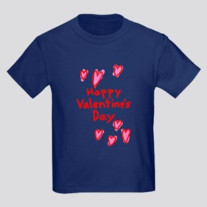 Valentines Hearts Kids Dark T-Shirt