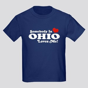 Somebody in Ohio Loves Me Kids Dark T-Shirt