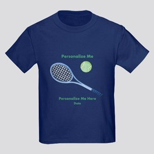 Personalized Tennis Kids Dark T-Shirt