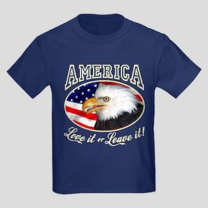 America - Love it or Leave it Kids Dark T-Shirt