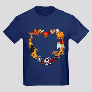 Dog Love Kids Dark T-Shirt