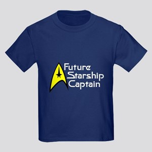 Future Starship Captain Kids Dark T-Shirt