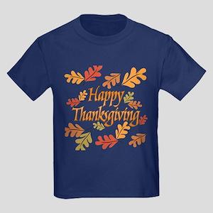 Happy Thanksgiving Kids Dark T-Shirt