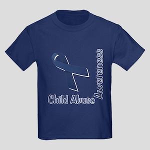 Child Abuse Awareness Kids Dark T-Shirt