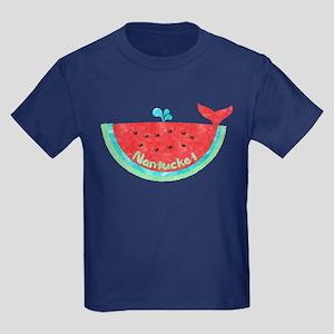Cute Nantucket Watermelon Whale T-Shirt