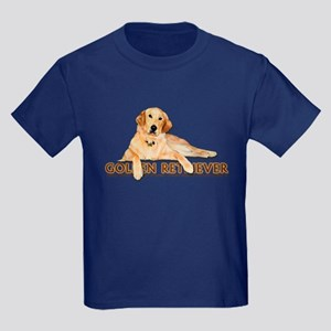 Golden Retriever Painted Kids Dark T-Shirt