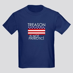 Treason isn't Patriotic Kids Dark T-Shirt