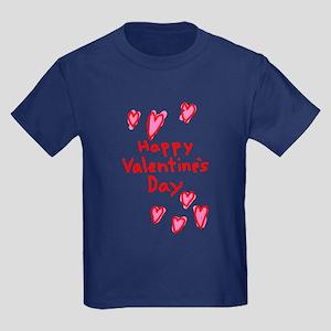 Valentines Hearts Kids Dark T-Shirt