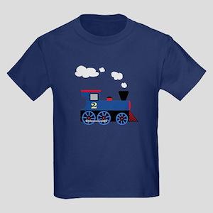 Blue train number 2 Kids Dark T-Shirt