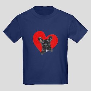 Black Frenchie Lover Kids Dark T-Shirt