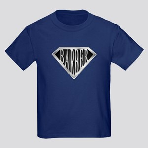 SuperBarber(metal) Kids Dark T-Shirt