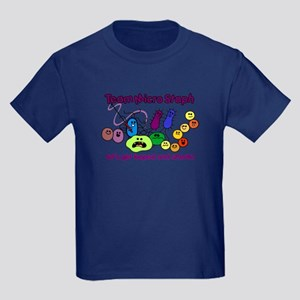 I Love Bacteria Kids Dark T-Shirt