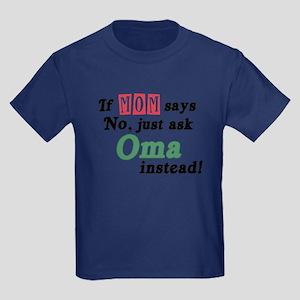 Just Ask Oma! Kids Dark T-Shirt