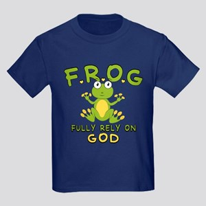 Fully Rely On God Kids Dark T-Shirt