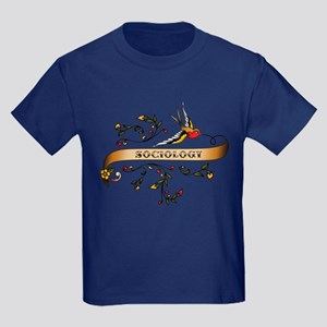 Sociology Scroll Kids Dark T-Shirt