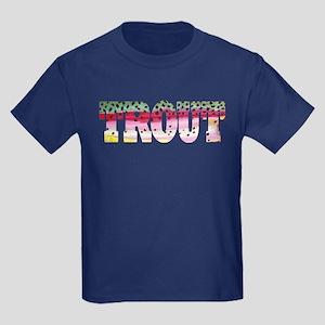 Rainbow TROUT Kids Dark T-Shirt