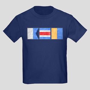 "Nantucket ""ACK"" Signal Flag Kids Dark T-Shirt"