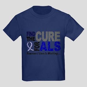 Find The Cure 1 ALS Kids Dark T-Shirt