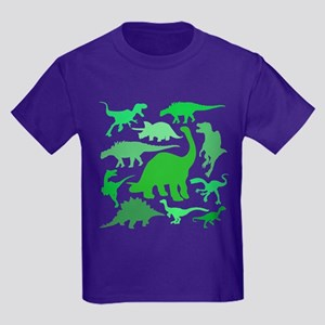 91edb6484 LOTS of DINOSAURS! Kids Dark T-Shirt