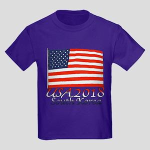 Pyeongchang, South Korea Kids Dark T-Shirt