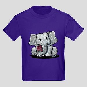 KiniArt Elephant Kids Dark T-Shirt