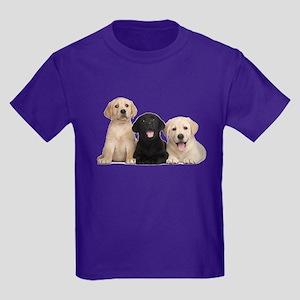 Labrador puppies Kids Dark T-Shirt