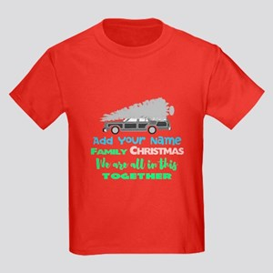 Personalized Griswold Christmas Kids Dark T-Shirt