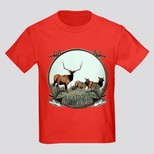 Monster bull elk elkahalic Kids Dark T-Shirt