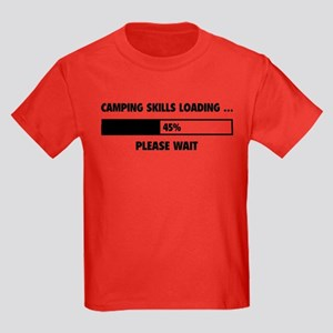 Camping Skills Loading Kids Dark T-Shirt