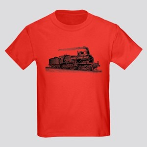 VINTAGE TRAINS Kids Dark T-Shirt