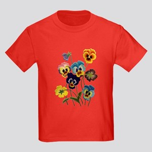 PARADE OF PANSIES Kids Dark T-Shirt