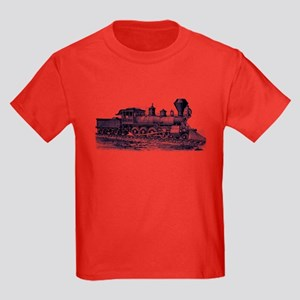 Locomotive (Blue) Kids Dark T-Shirt