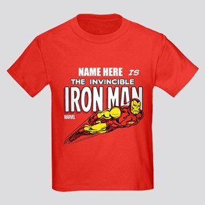 Personalized Invincible Iron Man Kids Dark T-Shirt
