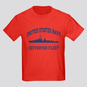 Navy Destroyer Kids Dark T-Shirt