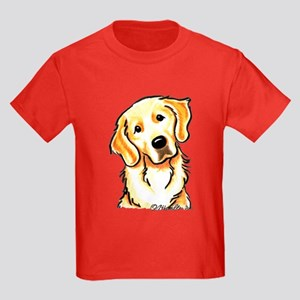 Golden Retriever Portrait Kids Dark T-Shirt