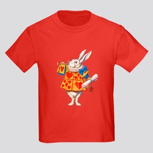 ALICE - THE WHITE RABBIT Kids Dark T-Shirt