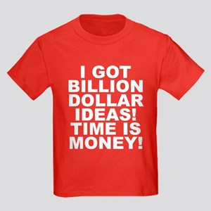Time Is Money Kids Dark T-Shirt