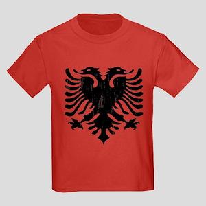 Albanian Eagle Emblem Kids Dark T-Shirt