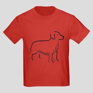 Golden Retriever Sketch Kids Dark T-Shirt