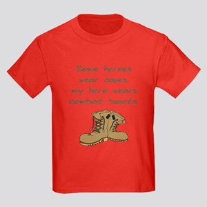 Some Heroes Wear Capes Kids Dark T-Shirt