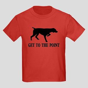 GET TO THE POINT Kids Dark T-Shirt