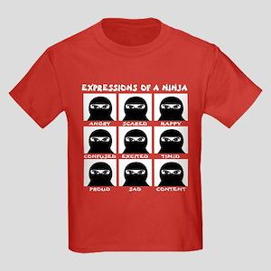 Expressions of a Ninja Kids Dark T-Shirt