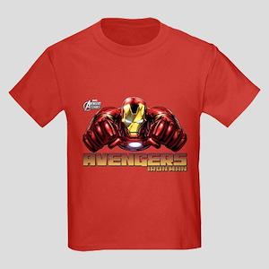 Iron Man Fists Kids Dark T-Shirt