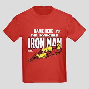 Personalized Invincible Iron Man Kids Dark T-Shirt